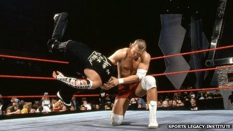Chris Nowinski in WWE action