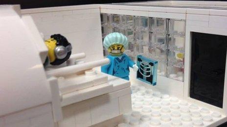Lego MRI scan room