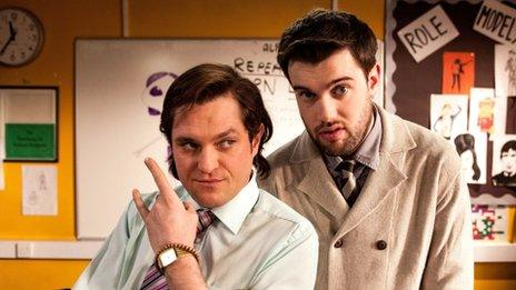Mathew Horne and Jack Whitehall in Bad Education