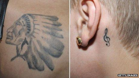 Justin Beiber tattoo