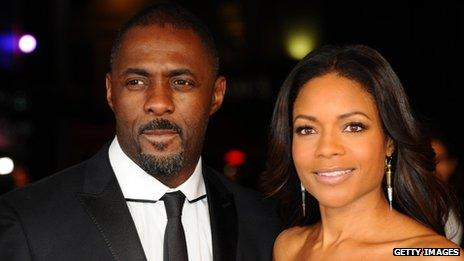 Idris Elba and co-star Naomie Harris