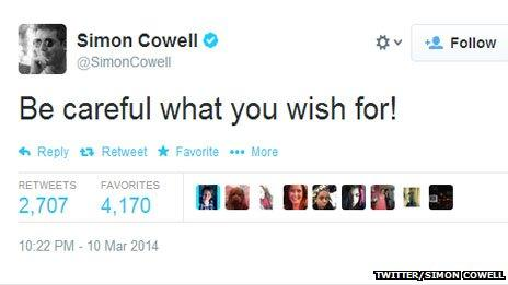 Simon Cowell tweet