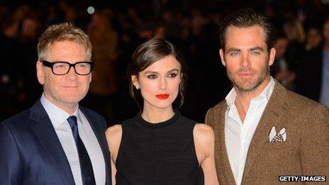 Kenneth Branagh, Keira Knightley and Chris Pine