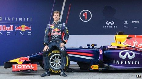 Red Bull's Sebastian Vettel won four consecutive world titles