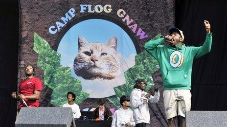 Odd Future performed at Reading and Leeds festival in 2013