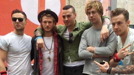 Boy band McBusted were also among the celebrities who helped in the ride