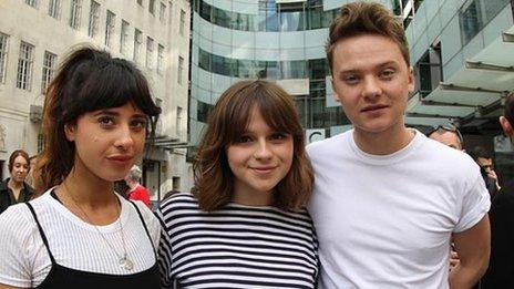 Foxes, Gabrielle Aplin & Conor Maynard were among the singers to join in