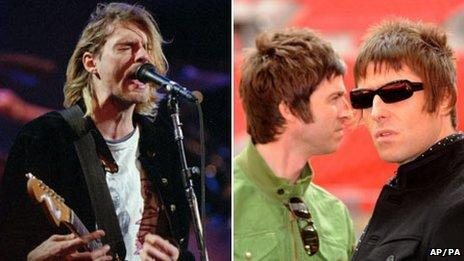 Nirvana and Oasis will also be available on Record Store Day