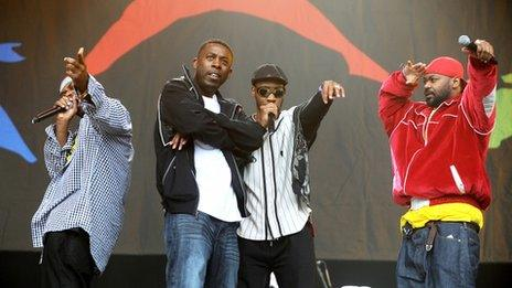 Wu-Tang Clan performed at Glastonbury Festival in 2011