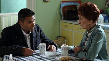 Ricky Norwood and June Brown