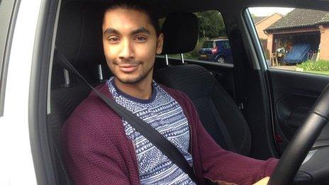 Jay Singh is currently learning to drive