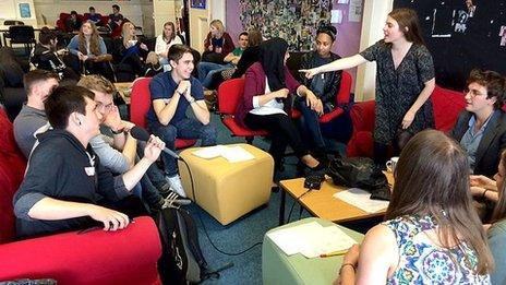 A group of teenagers taking part in the Radio 4 documentary