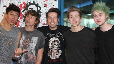 5 Seconds of Summer with Nick Grimshaw