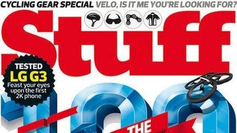 Stuff magazine front cover