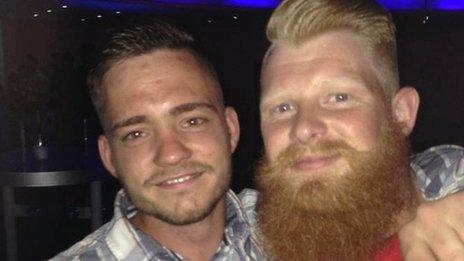 Tommy Main's friend Matthew Davey (right) has set up a Facebook fundraising page