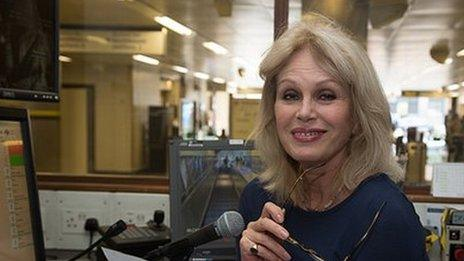 Joanna Lumley recording her announcements