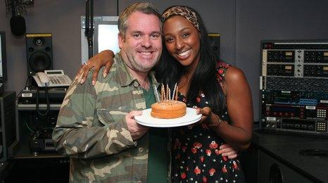 Chris Moyles and Alexandra Burke