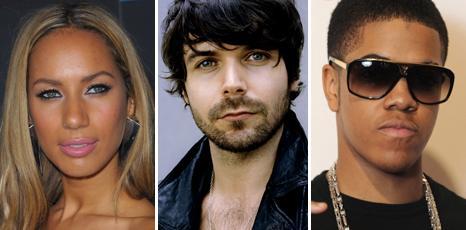 Leona Lewis, Biffy Clyro's Simon Neil and Chipmunk