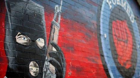 Mural of the Ulster Freedom Fighters