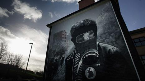 Republican mural in Northern Ireland
