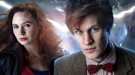 Karen Gillan and Matt Smith in Doctor Who