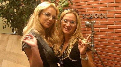 Britney Spears and her assistant, Brett Miller