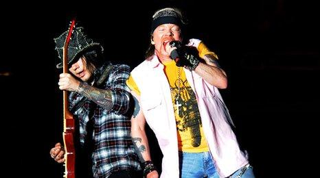 DJ Ashba and Axl Rose