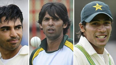 Salman Butt, Mohammad Asif and Mohammad Aamer