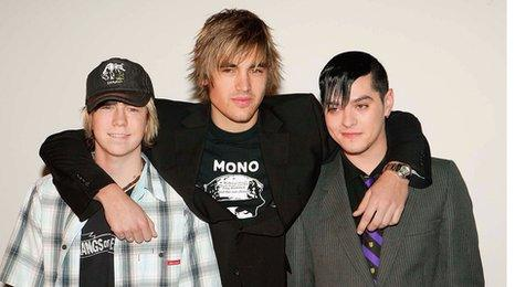 James Bourne, Charlie Simpson and Matt Willis from Busted