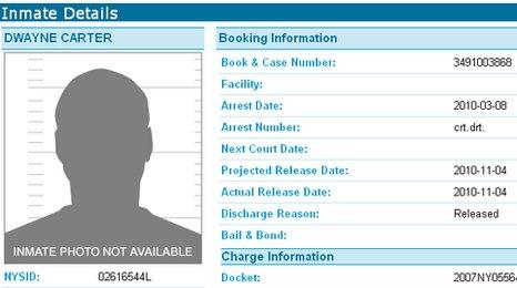 Lil Wayne's prison details