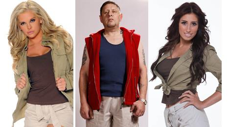 Kayla Collins, Shaun Ryder and Stacey Solomon