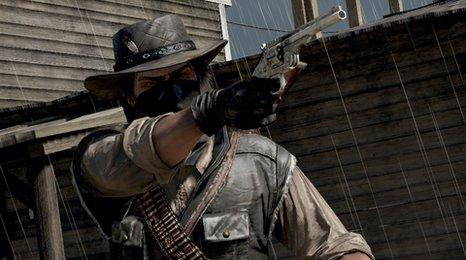 Screen shot from Red Dead Redemption