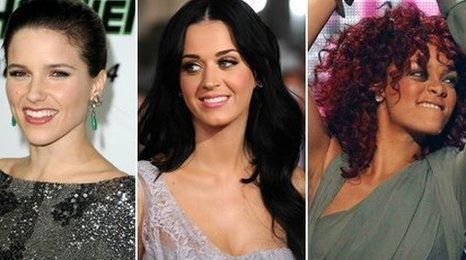 Sophia Bush, Katy Perry and Rihanna