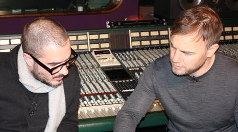 Zane Lowe and Gary Barlow