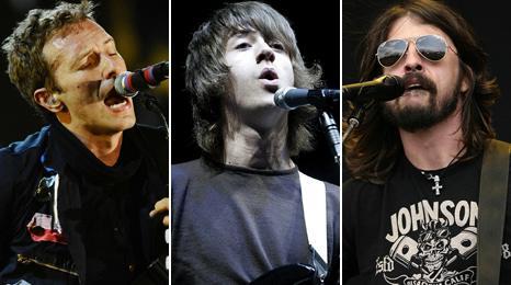 Chris Martin, Alex Turner, Dave Grohl