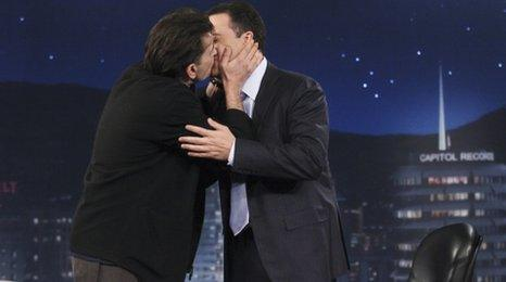 Charlie Sheen and Jimmy Kimmel