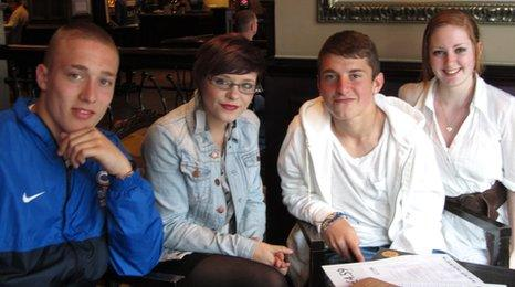 Josh Simner, Leanne Maher, Lewis Jones and Shelby-Skye Barnes