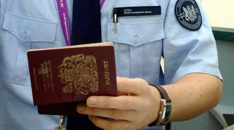 British immigration officer