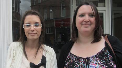 Gemma Keywood and Nicole Blake