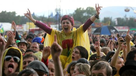 Festival-goer at T in the Park 2011