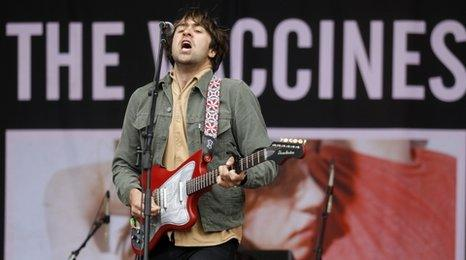 Justin Young from The Vaccines