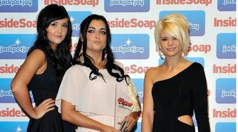 Jacqueline Jossa, Shona McGarty and Danielle Harold from EastEnders