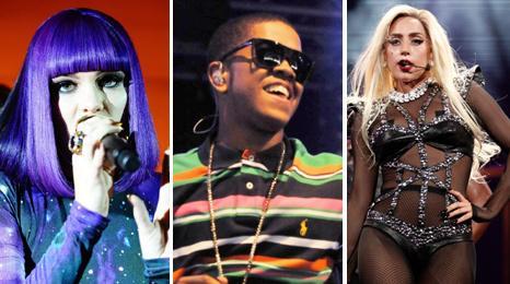 Jessie J, Chipmunk and Lady Gaga