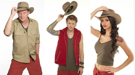 Antony Cotton, Dougie Poynter and Jessica Jane Clement