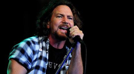 Eddie Vedder from Pearl Jam