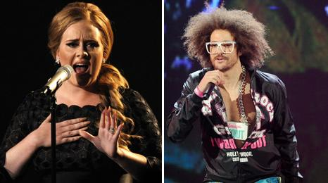 Adele and Redfoo from LMFAO