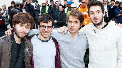 The Inbetweeners: James Buckley, Simon Bird, Joe Thomas and Blake Harrison