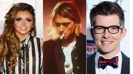 Little Mix, Nirvana's Kurt Cobain and choir conductor Gareth Malone