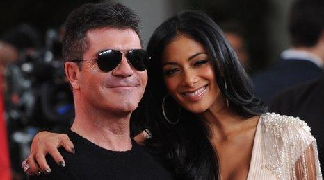 Simon Cowell and Nicole Scherzinger