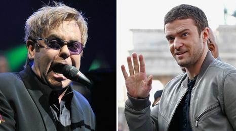 Elton John and Justin Timberlake